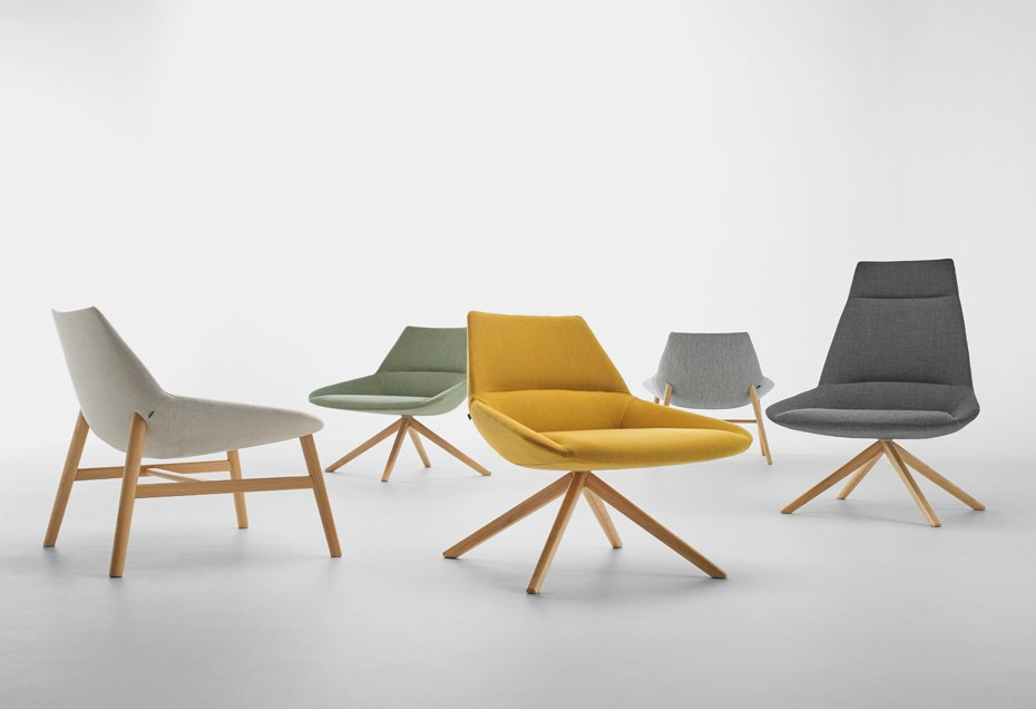 DUNAS XL armchairs, a creation by Christophe Pillet for INCLASS