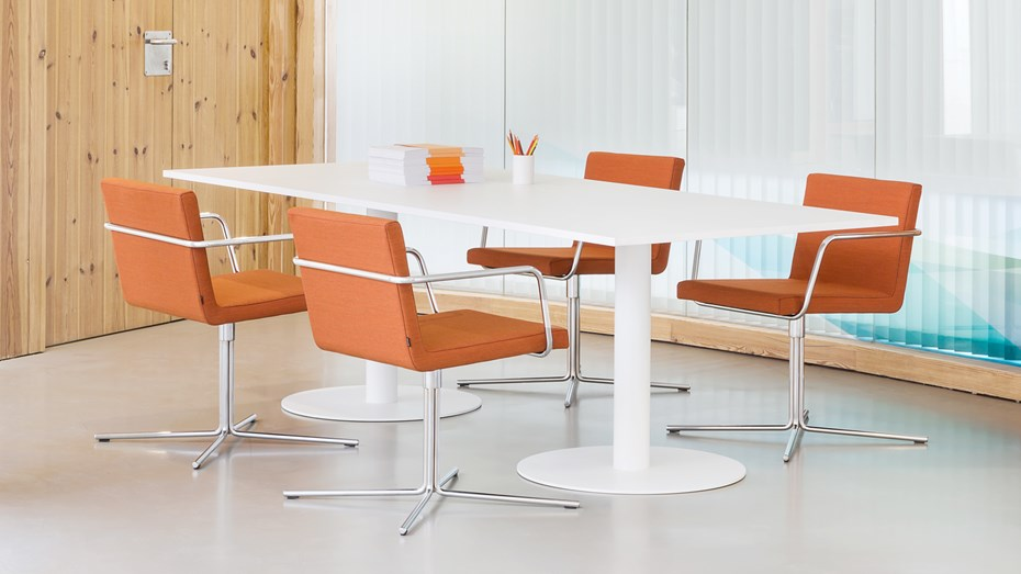 ALN office chairs available with swivel basel or legs