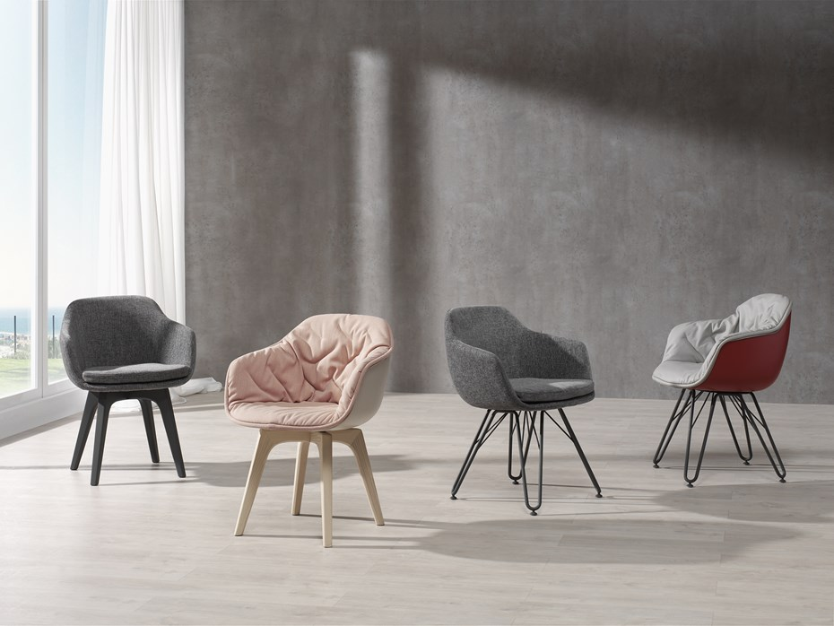 Comfort & versatility: the LAP chair collection, DRESSY Collection