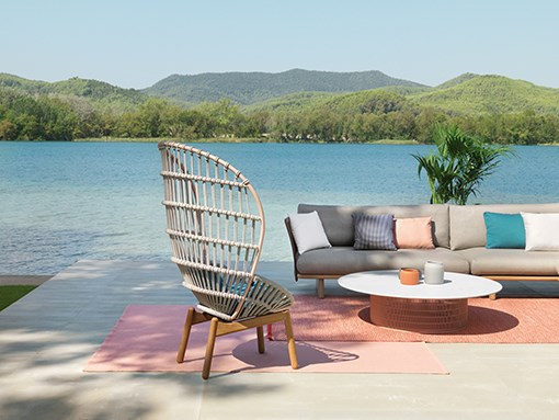 A Kettal outdoor ambience with the KETTAL CALA armchair