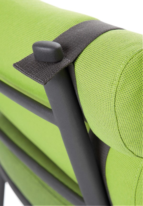 KETTAL ROLL chair, detail of the frame and strap system