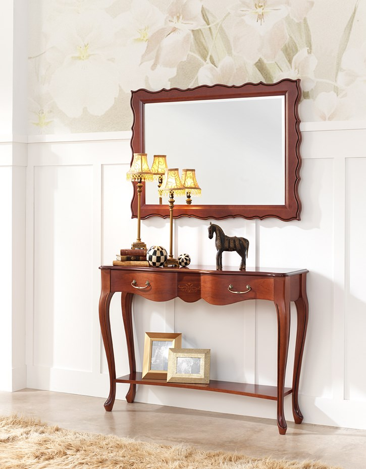 Classic hallway furniture for modern life: console table model 164.120 & mirror model 316.080