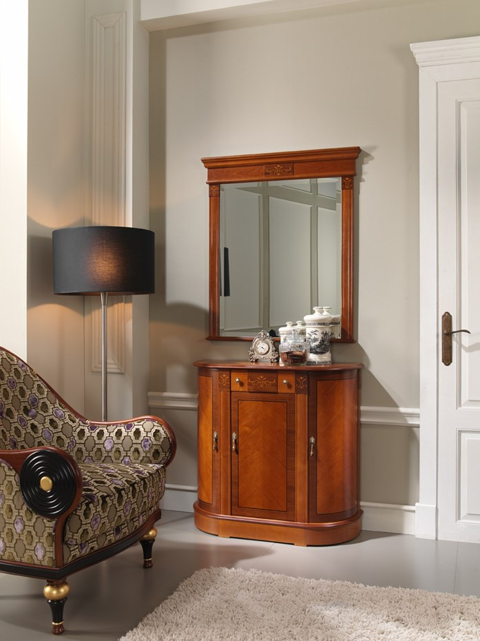 Style & practicality: cabinet model 104.090 and mirror model 821.000