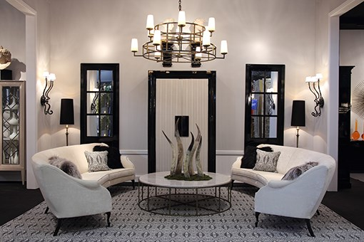 Neutral hues & black create a dramatic effect and add depth to ambiences