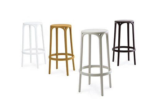 BROOKLYN stools, different colours for more versatility
