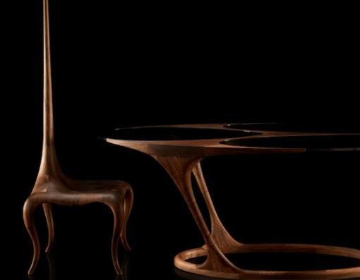 yris table and lady sting chair by paco camus