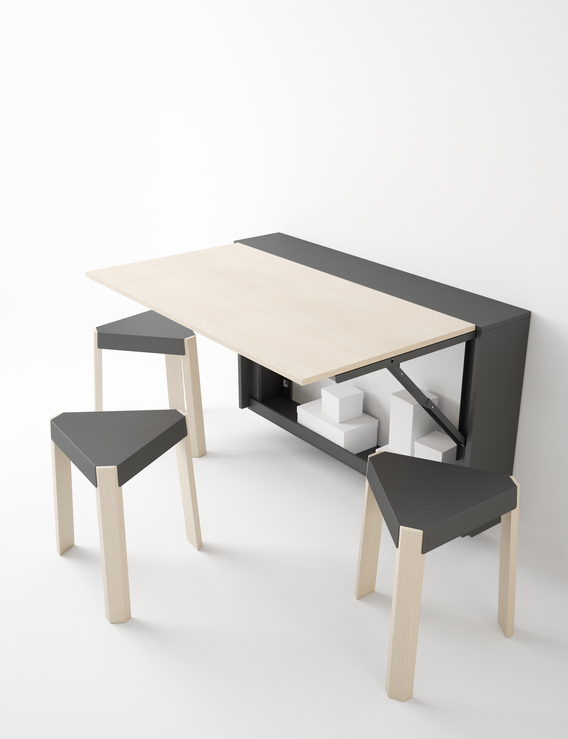 - BLOCK Folding Table Furniture From Spain