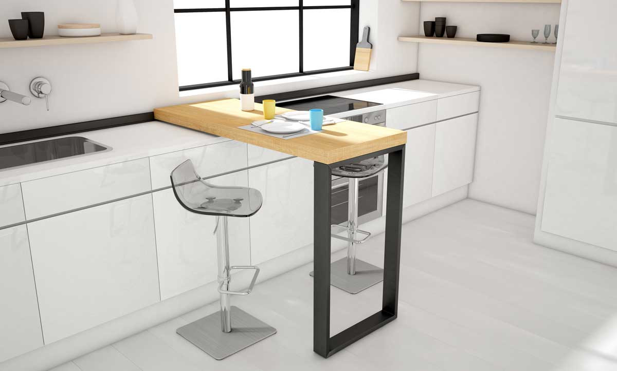Cancio launches the new collection of movable bars and stools for home and contract spaces - Barra cocina plegable ...
