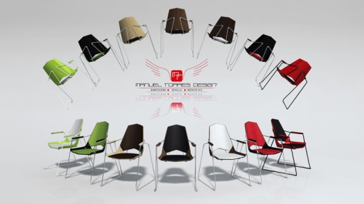 The different colour combinations of the SINGULAR chairs, the new product of TAGAR