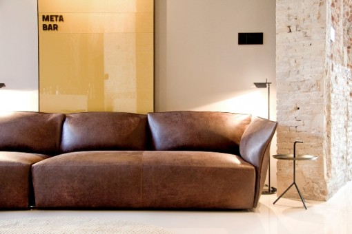 The upholstered version of the NEST sofa