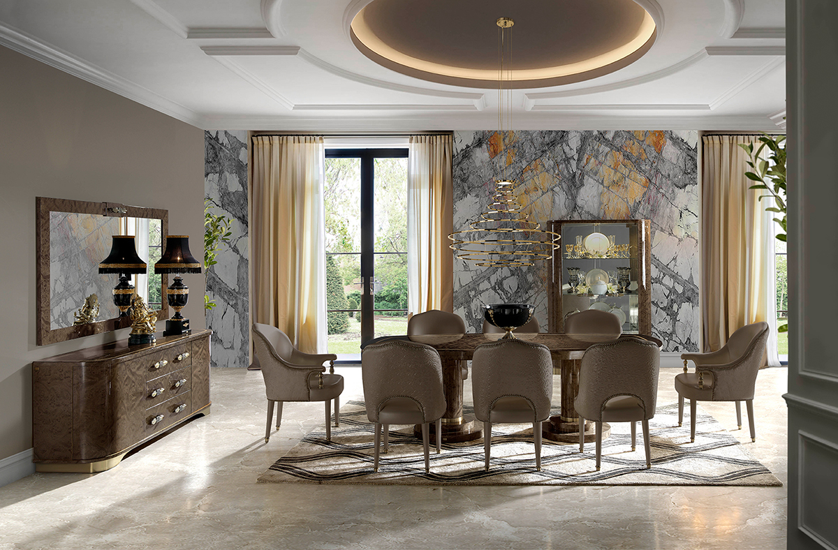 ASTORIA, the new luxury dining room collection from SOHER ... on Safavieh Outdoor Living Horus Dining Set id=48276