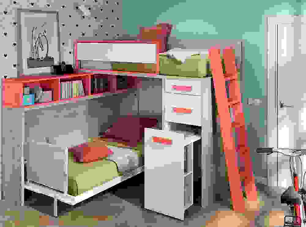 Bunk Bed With Extractable Desk Furniture From Spain