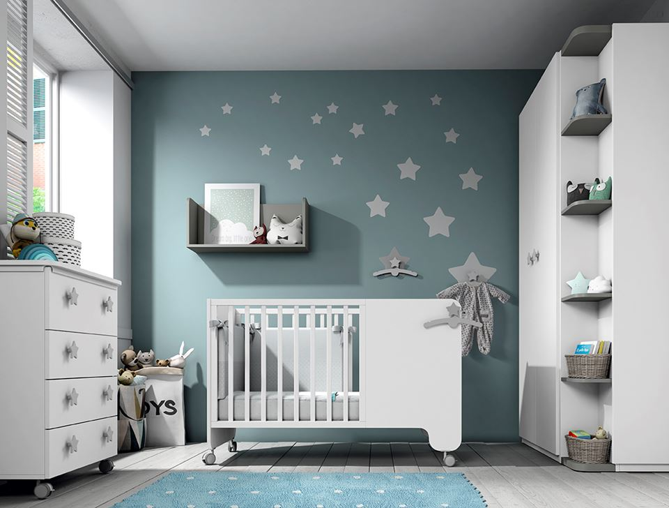 Soft baby bedroom furniture | Furniture from Spain