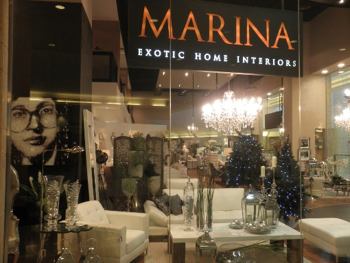 The MARINA showroom int the Abu Dhabi Mall, visited on the latest trade mission to UAE