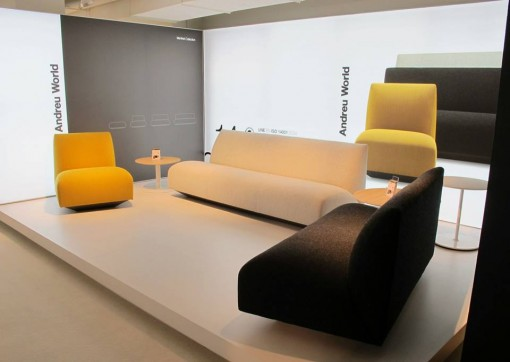 The new MANFRED modular sofas by Lievore Altherr Molina for ANDREU WORLD on display at NEOCON 2013