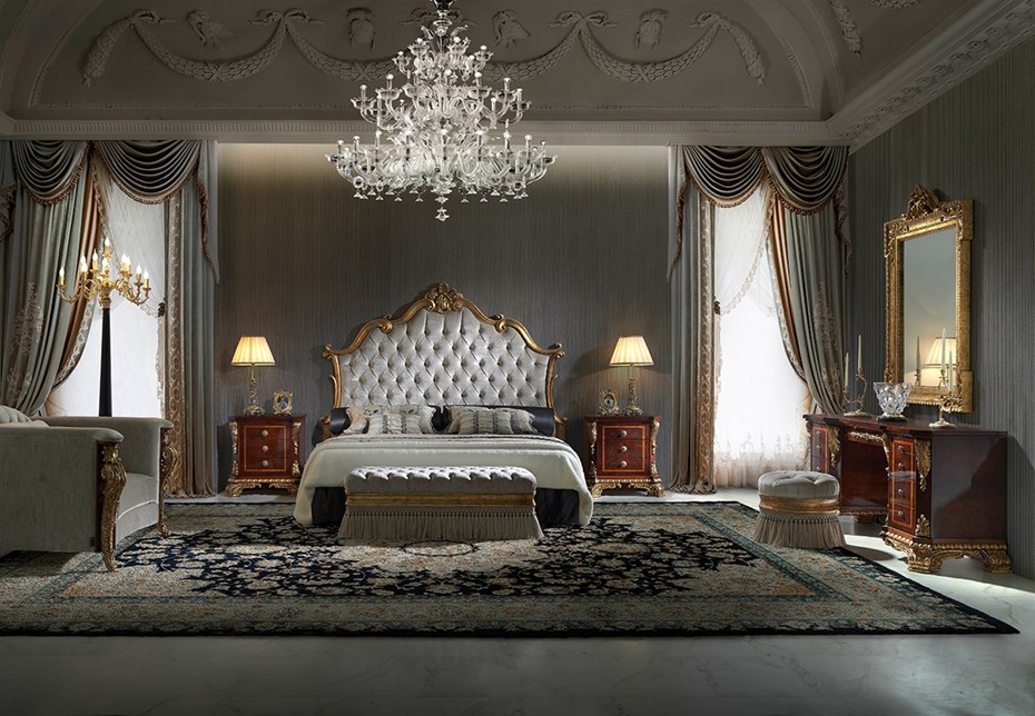 Valencia Carved Wood Traditional Bedroom Furniture Set 209000: The Finest Experience: The RITZ Collection From SOHER