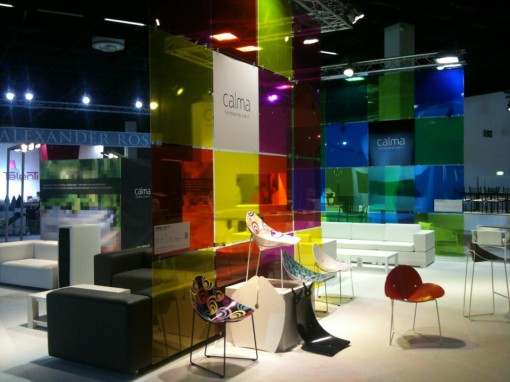 CALMA's stand at Spoga+Gafa, an intriguing play of colours and transparencies