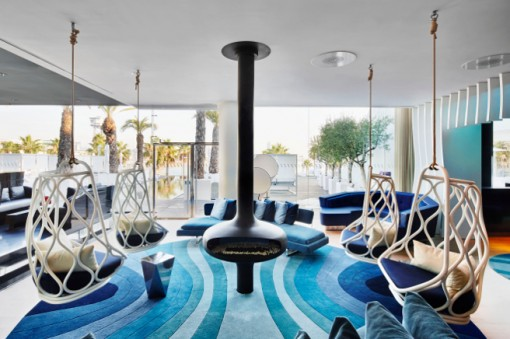 Expormim and viccarbe in the new w lounge of hotel w for Design hotel w barcelona