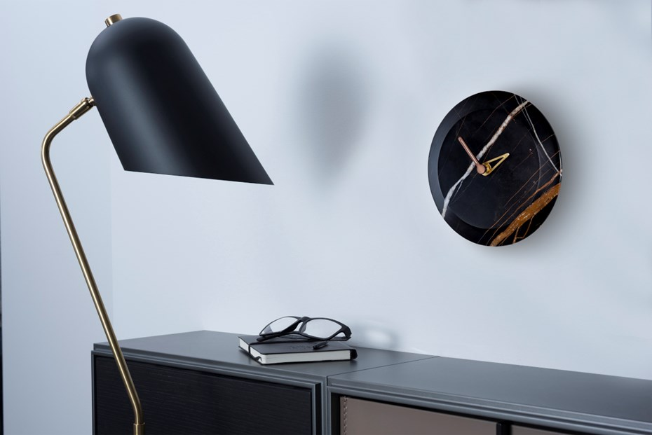 nomon-bari-marble collection-sahara-noir-clock