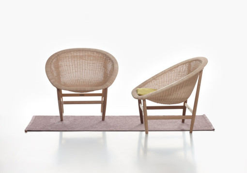 The BASKET chair, a new edition of the former design by Nanna and Jørgen Ditzel