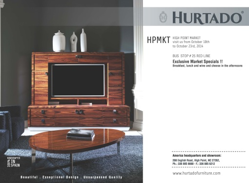 Invitation To Hurtado S Showroom At High Point Market From 18 23 October
