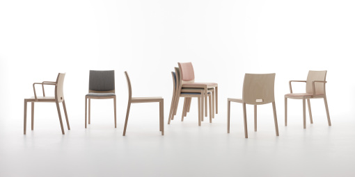 UNOS chairs by Jasper Morrison for ANDREU WORLD