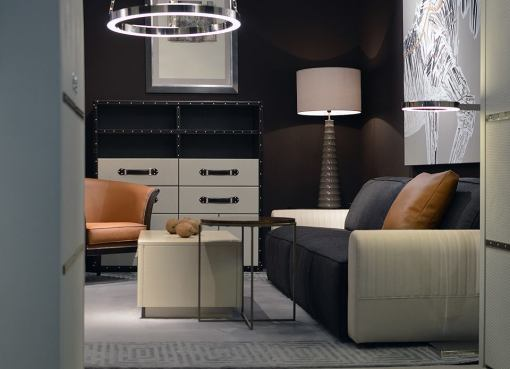 DENVER coffee table, BOSTON sofa and RING pendant light