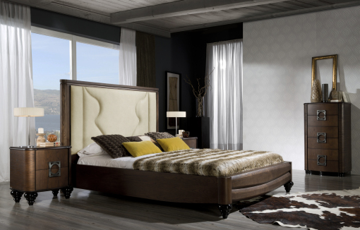 ELEGANCE bedroom, upholstered headboard. LINEAS TALLER
