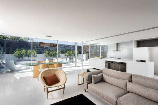 Living room  KETTAL s Basket chair  INCLASS  Arch chairs and VONDOM s  outdoor furniture in. Spanish design furniture in a minimal house in Perth  Australia