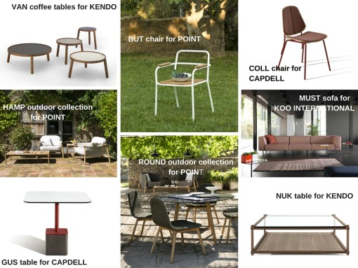 Some of the latest Rifé's designs for Spanish furniture companies of Mueble de España...