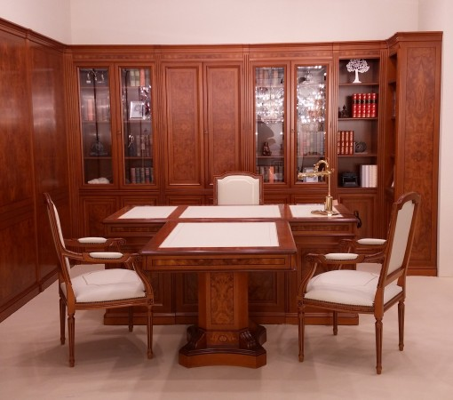 EXECUTIVE bookcases and wall panelling