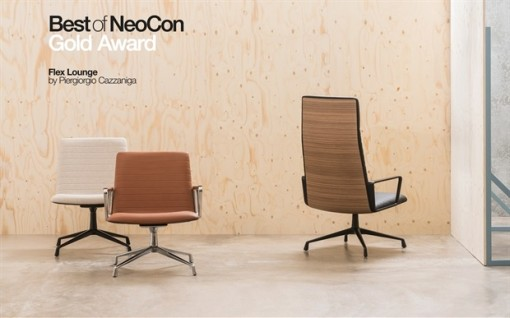 FLEX LOUNGE chairs by for ANDREU WORLD - Best of NeoCon 2016