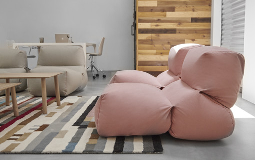 GAN, GRAPY soft seating collection by Kensaku Oshiro