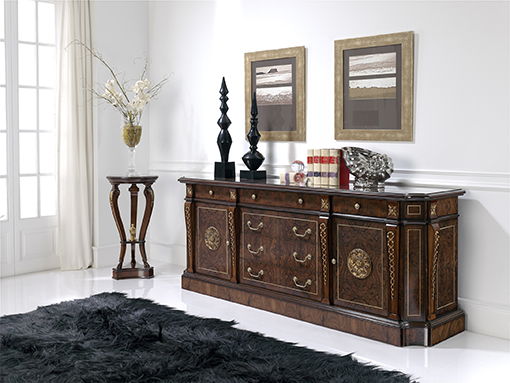 DALI sideboard in walnut, office furniture collection