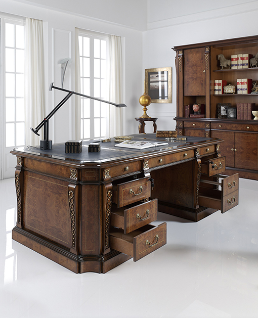 DALI desk with filing cabinets